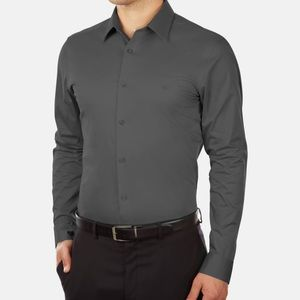 Calvin Klein Slim Fit Stretch Dress Shirt 15 32/33